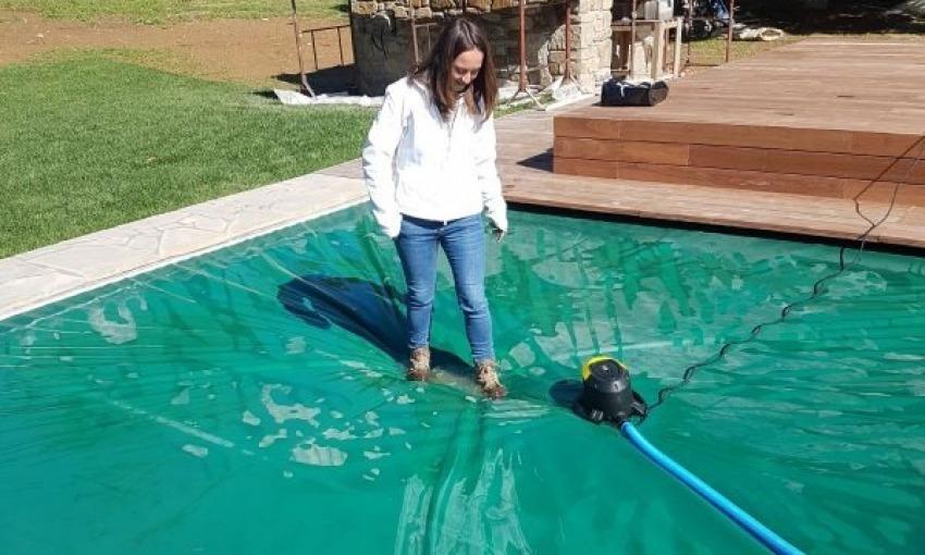Copertura di sicurezza per piscine interrate