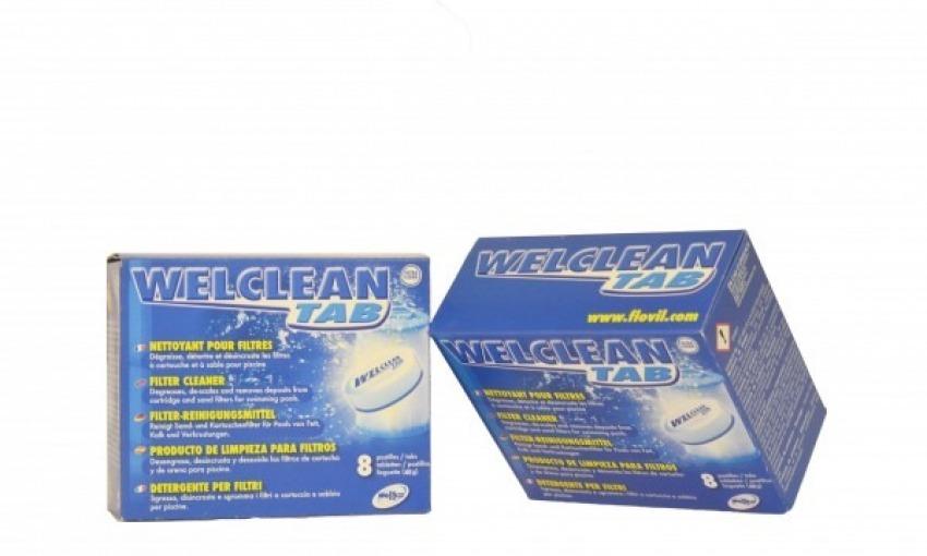 Pulire la cartuccia di filtrazione della piscina con Welclean