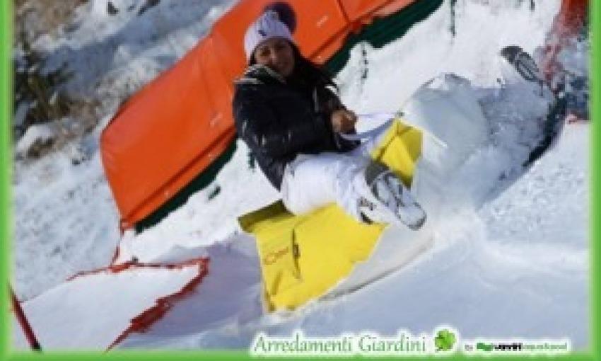 Slittone per divertirsi sulla neve sfruttando le piste per slittini