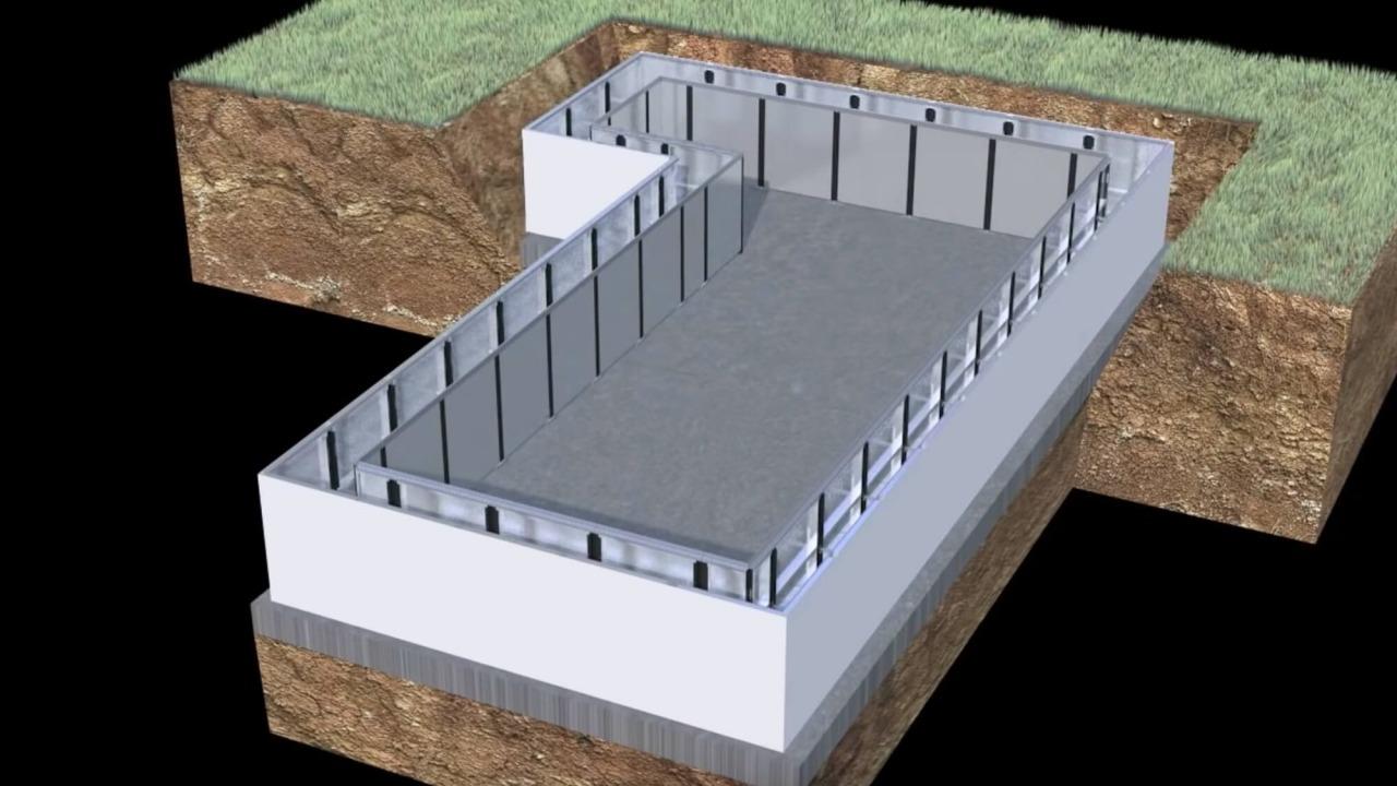 progetto per realizzazione piscina interrata