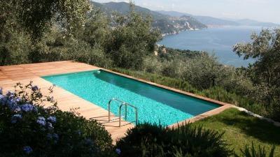 piscina laghetto dolcevita gold con vista su lago